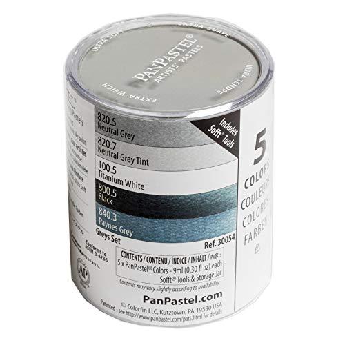 Pan Pastel artistes Pastel Griss - 5 Couleur Set
