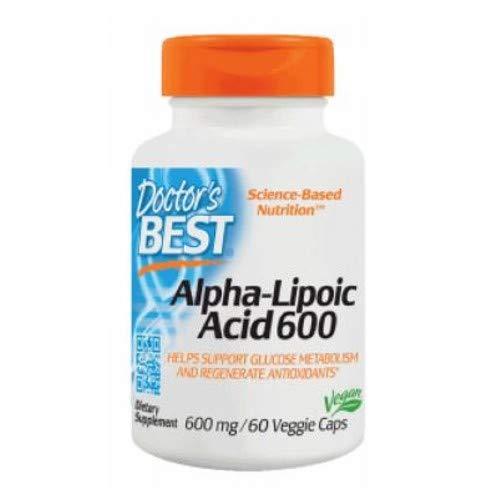 Doctors Best Best Alpha Lipoic Acid, 600 mg, 60 Veggie Caps