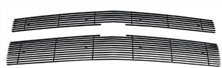 MaxMate Fits 2014-2015 Chevy Silverado 1500 2PC Bolton Upper 7/12 Bars (Does Not Fit Z71 Models) Black Billet Grille Grill Insert