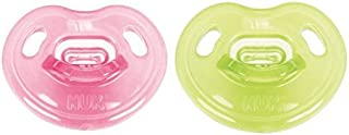 NUK Newborn 100% Silicone Orthodontic Pacifier, 0-3 months, Assorted Colors, 2 pk