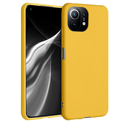 kwmobile Cover Compatibile con Xiaomi Mi 11 Lite (5G) - Cover Custodia in Silicone TPU - Backcover Protezione Posteriore- Miele