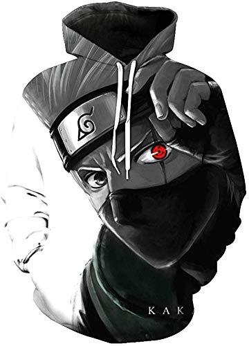 POYUT Naruto Hoodie Jacket 3D Printed Pullover Sweatshirt with Front Pocket Cosplay Costume Kids Boys Unisex, Large