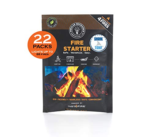 Instafire (22 Packs) Popular Mechanics Fire Starter for Camping, Emergencies, Hiking, Fishing, Boating, Fire Pits, Grilling, Survival, Preppers, Food Storage, Boiling Water (as Seen on Shark Tank!)