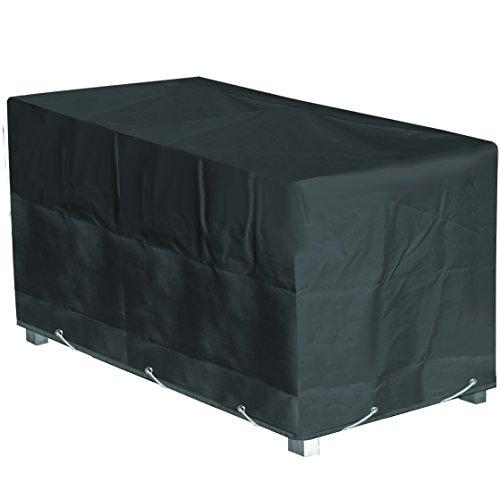 GREEN CLUB Housse de Protection Table de Jardin Rectangulaire Haute qualité Polyester L 200 x l 130 x h 60 cm Couleur Anthracite