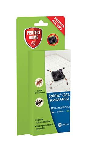 PROTECT HOME Solfac Box Gel insetticida per scarafaggi in Confezione Salva freschezza, 2 x 1 gr