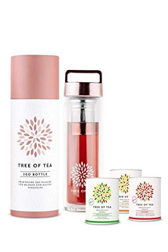 mymuesli 2go-bottle Probierpaket – Tree of Tea – 3x Bio-Blatttee – 450 ml 2go-Bottle – Geschenkverpackung – Bio-Tee von Tree of Tea