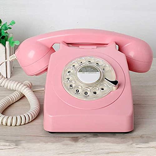 YWSZJ Europe Estilo REGULVE DIAL Vintage TELÉNTICO TELÉNTICO PLÁSTICO DE PLÁSTICO Oficina Retro Alambre Animal TELÉFONO Fijo (Color : B)
