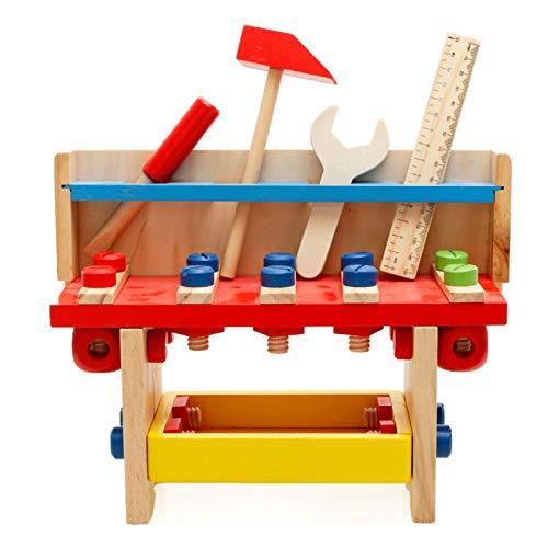 LYY Spaß Interaktiv Holzsimulation Holztischtisch Demontage und Montage Nuss Kombination Spielzeug Montessori Early Education Puzzle Infant Kinderbrett Spiel Die Beste Wahl für Kinder