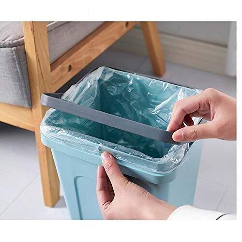 POETRY Bote de Basura Portátil con Tapa Papelera de Plástico Papelera Cubo de Almacenamiento 5L Huhero (Color: Azul) (Color: Azul Tamaño: -)
