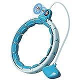 Aro de hula inteligente ponderado con rastreador de ejercicios y masaje, aro de ejercicio 3 en 1 sin caída para adultos y niños, nudos ajustables, Bola de gravedad de 3.3 libras, Hula hoop fitness
