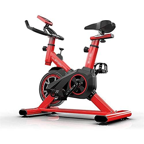 DJDLLZY Ciclismo Indoor Bicicleta estacionaria, la Bicicleta estática for Uso doméstico, impulsado por Correa Ajustable Bicicleta de Spinning Entrenamiento con Tablet Holder y Monitor LCD
