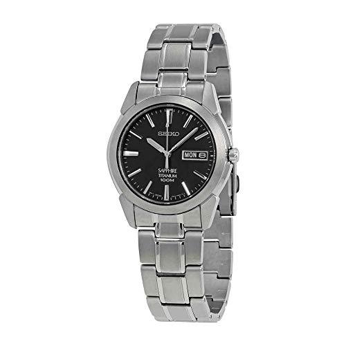 Seiko SGG731P1 horloge heren - grijs - titanium