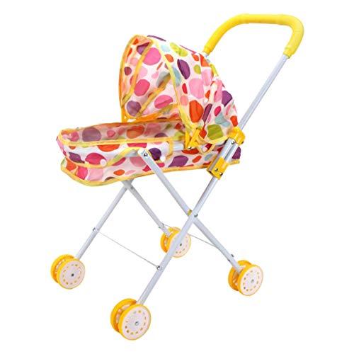 HomeDecTime Cochecito de Muñeca Plegable para Bebé Recién Nacido Reborn, Muebles de...