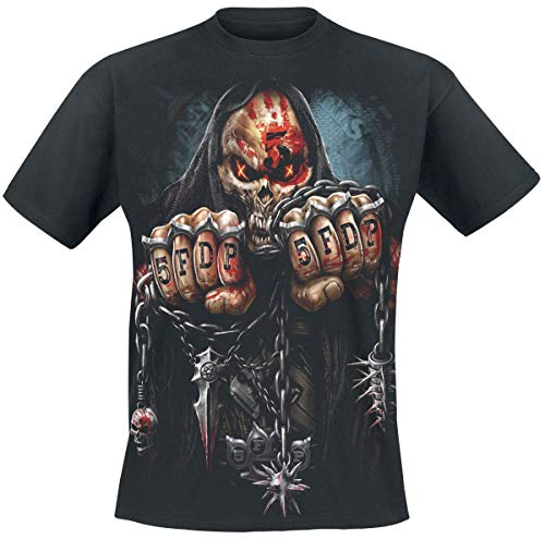 Five Finger Death Punch Game Over Uomo T-Shirt Nero M 100% Cotone Regular