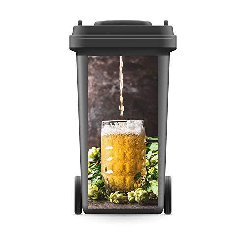 WERBEPUNKT. Mülltonnenaufkleber Mülltonne Mülleimer Abfalltonne Bierglas Bier Hopfen- 720 x 320 mm