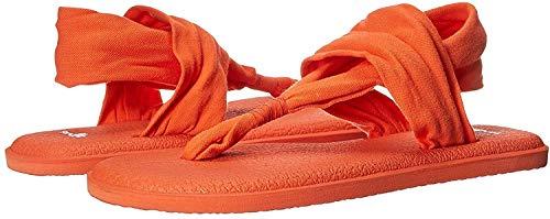 Sanuk Women's Yoga Sling 2 Flip Flop (10 B(M) US, Nasturtium)