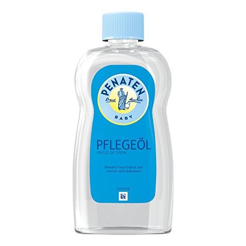 Penaten Pflege-Öl 500ml – Pflegendes Körperöl zur sanften Pflege und Reinigung von empfindlicher Babyhaut – Bewahrt Feuchtigkeit (1 x 500ml)