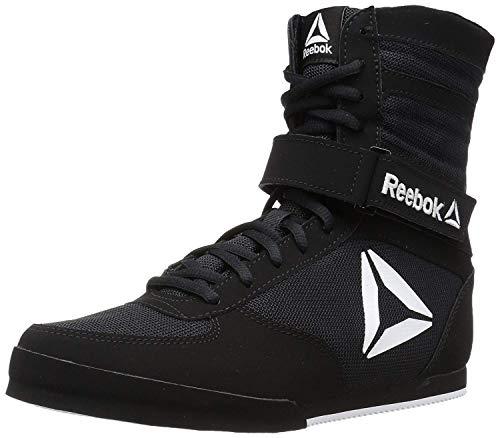 Reebok Men's Boot Boxing Shoe, Black/White, 7 M US