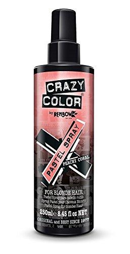 Crazy Color, temporäres Spray zur Aufrechterhaltung der Haarfarbe 250ml Peachy Coral
