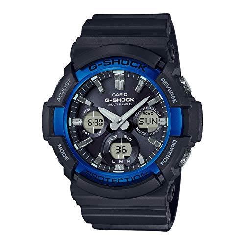 Casio G-SHOCK Reloj Analógico-Digital, Reloj radiocontrolado y solar, 20 BAR, Azul/Negro, para Hombre, GAW-100B-1A2ER