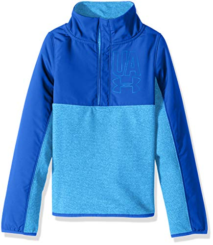 Under Armour Girls Phenom Fleece 1/2 Snap Top,Mako Blue /Mako Blue, Youth Medium