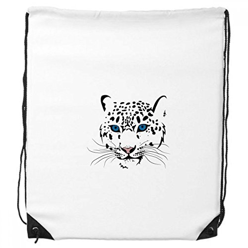 DIYthinker White Tiger Head Animal Drawstring Backpack Shopping Gift Sports Bags One_Size...