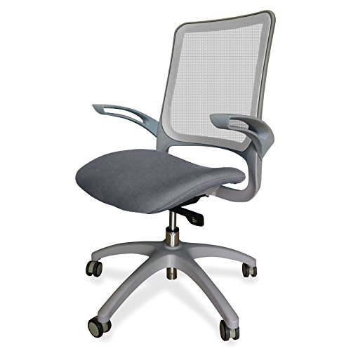 Lorell Self-Adjusting Weight-Activated Task Chair with Gray Base, 17.01' Height X 24.02' Width X 25' Length