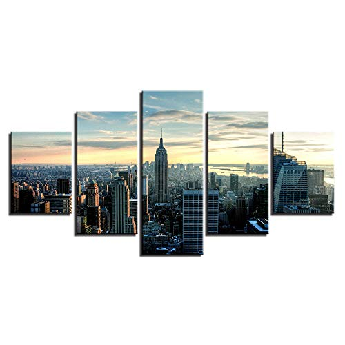 Wallpaper 3D Wall Beautification Poster Hd Printed Painting Home Decoration Popular 5 Panel Superman Large Canvas Wall Art Modular Pictures for Living Room-30x40cm 30x60cm 30x80cm