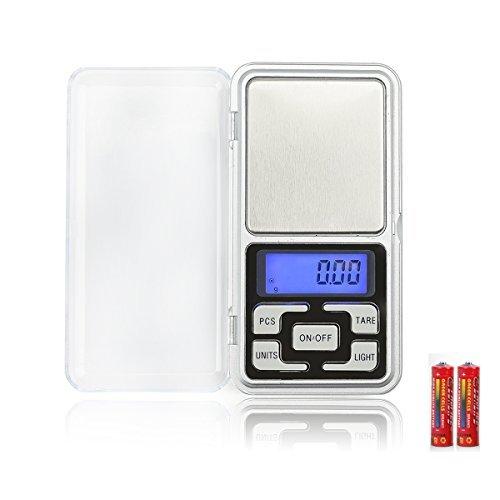 Simerst 携帯タイプ ポケットデジタル スケール(秤) 0.01g/0.1-500g精密 業務用(プロ用) 電子 はかり 日本語取扱説明書付き (0.1-500g)