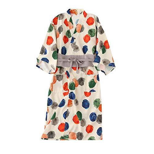 Algodón puro par de onda punto camisón camisón vestido de otoño ropa de casa pantalones pijamas mujer invierno