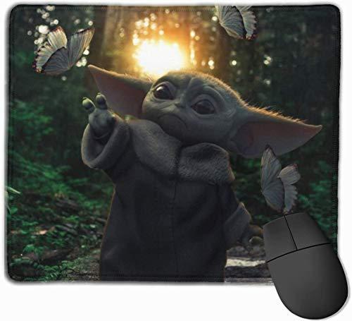 マウスパッド ゲーミングマウスパット Baby_Yoda 高級感 最適 高級感 おしゃれ 防水 耐久性が良い 滑り止めゴム底 ゲーミングなど適用 マウスの精密度を上がる 疲労軽減 作業 マウスパット ( 25*30 Cm )