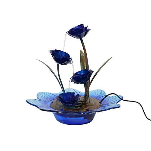 Liffy Fuente de Mesa Cubierta Flor Fuente decoración del hogar de la Cascada con el Adaptador y característica de la Bomba de alimentación