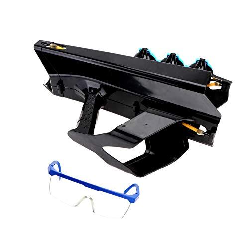 Hemoton Schneeballwerfer Schneeball Blaster Schneeball Maker Form mit Schutzbrille Schneeball Kampfspielzeug für Kinder Erwachsene Outdoor Winterspiele Spielzeug