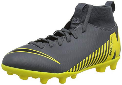Nike Unisex-Kinder Superfly 6 Club MG Fußballschuhe, Grau (Dark Grey/Black/Opti Yellow 070), 37.5 EU