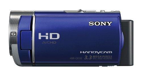 Sony HDR-CX130EL Full HD Camcorder (7,6 cm (3 Zoll) Display, bildstabilisiert, Exmor R Sensor) blau