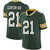 WLLIT NFL Football Jersey Packers # 12 Rodgers 52 21 87 Nelson Camiseta de fútbol de Manga Corta Para Hombre, Camiseta Deportiva de Manga Corta-C6-XXL