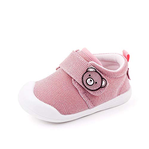 Ortego Baby Schuhe Mädchen Lauflernschuhe Babyschuhe Sneaker Kleinkind Flach Anti-Rutsch Pink Größe 21