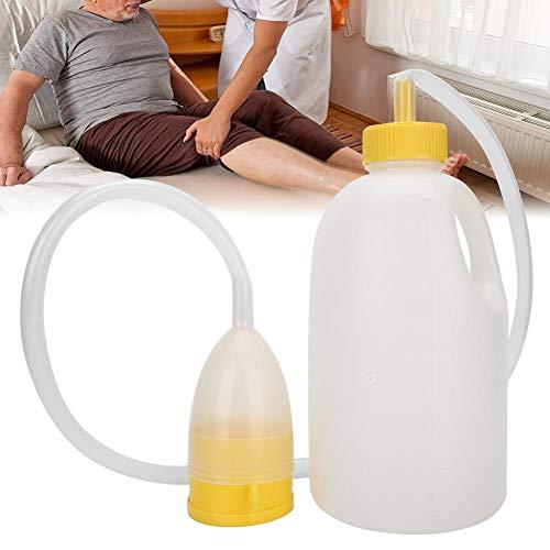 1700ML männliche Urin-Pipi-Flasche, ältere bettlägerige Patienten Töpfchen mit Pfeife, tragbares Urinal aus Plastik-Mann-Urinal, Pipi-Flaschen für Männer, Urinsammlung für Inkontinenz, ältere