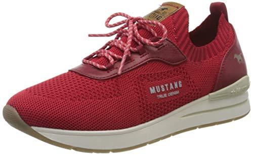 MUSTANG Damen 1352-303-5 Sneaker, Rot (Rot 5), 38 EU