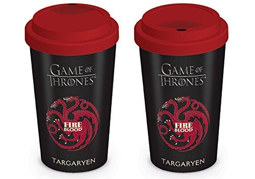 Game of Thrones MGT22870 (House Targaryen) Travel Mug, Céramique, Multicolore, 12oz/340ml