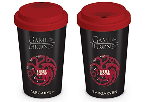 Game of Thrones MGT22870 (House Targaryen) Travel Mug, Céramique, Multicolore, 12oz/340ml