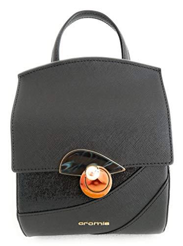 Cromia Rucksack Damen Handtasche Leder Farbe Schwarz Linie Caribe 1403894 Größe 16x20x9,5cm