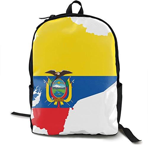 Bandera de Ecuador Bolsa para computadora de Viaje Mochila para computadora portátil Unisex, Escuela universitaria para computadora portátil de 15 '