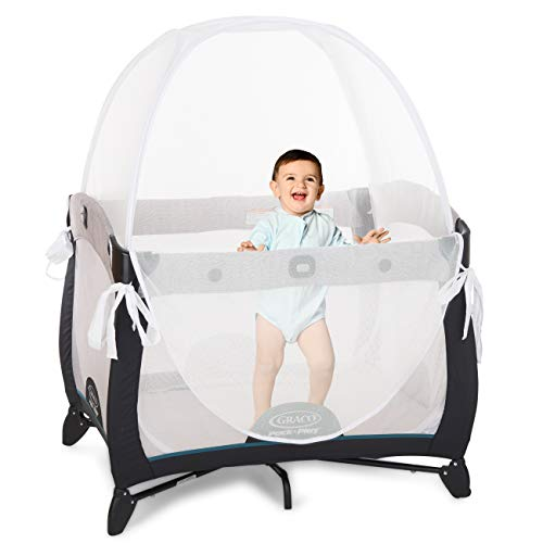 KinderSense - Baby Safety Crib Tent - The Safe Toddler Crib Topper for Playpens Pack N Plays & Mini Cribs to Keep Baby from Climbing Out - Breathable Mesh Pop up Crib Net - Mosquito Net Canopy