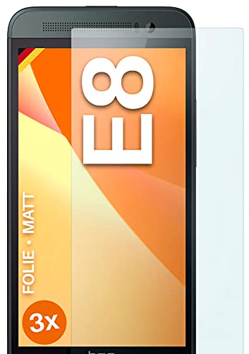 moex Schutzfolie matt kompatibel mit HTC One E8 - Folie gegen Reflexionen, Anti Reflex Bildschirmschutz, Matte Bildschirmfolie - 3X Stück