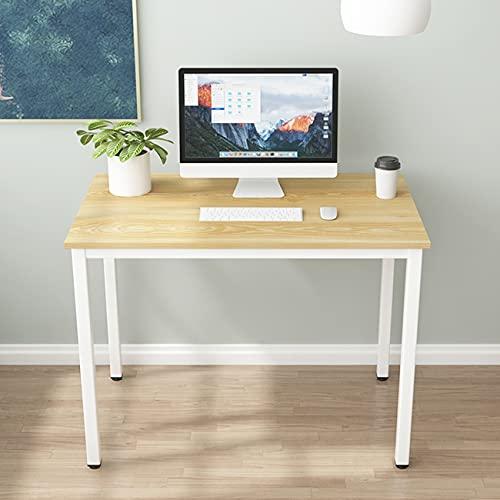 sogesfurniture Mesa de Ordenador Escritorios para Computadora, 100x60 cm Escritorio de Oficina Mesa de PC Mesa de Trabajo Mesa de Estudio de Madera y Acero, Roble Claro BHEU-LD-AC100LO