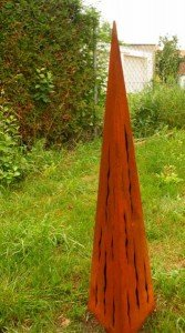 Gartendekoshop24 Rostsäule Raindrops 100cm mit Risse