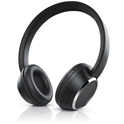 CSL - Bluetooth Kopfhörer - Wireless Headphone - On Ear Ohrhörer - Bluetooth V4.0 - schwarz anthrazit
