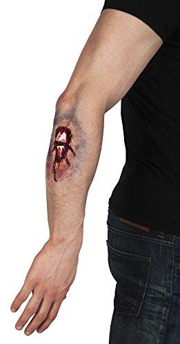 erdbeerloft - Kostüm Wunde Special Effect EFX Fraktur Knochenbruch, Mehrfarbig
