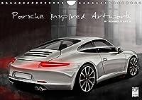 Porsche inspired Artwork by Reinhold Art´s (Wandkalender 2022 DIN A4 quer): In Digital-Painting interpretierte Porsche Fahrzeuge als Kalender (Monatskalender, 14 Seiten )